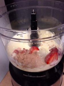 Strawberry Chocolate Paleo Protein Shake Process