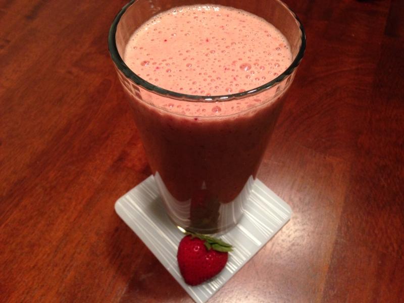 Strawberry Chocolate Paleo Protein Shake