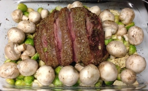 Roast Leg of Lamb Preperation