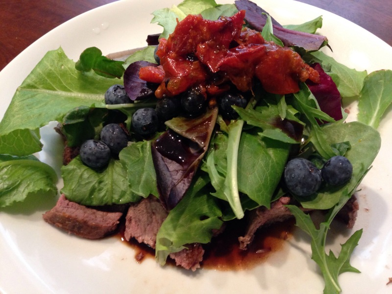 Steak and Blueberry Salad